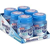 Mentos Gum Pure Fresh Freshmint met groene thee extract, suikervrije kauwgom – verpakking van 6 potjes met 30 kauwgoms…