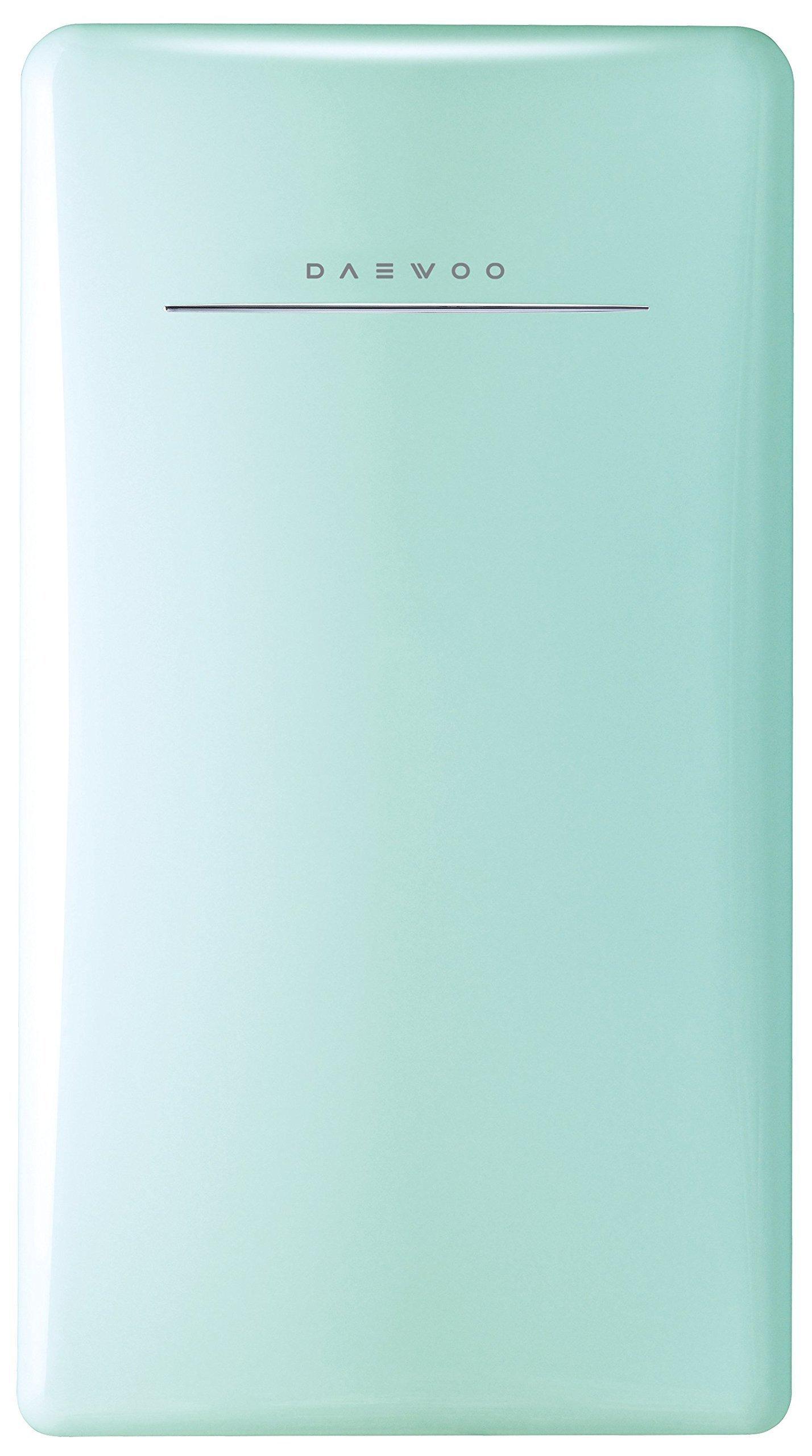 Daewoo FR-044RCNM Retro Compact Refrigerator 4.4 Cu. Ft. | Mint Green by Daewoo