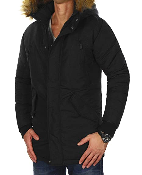 JACK & JONES jcohollow – Parka para Hombre Jacket Schwarz (Black Fit:One Jcopeak