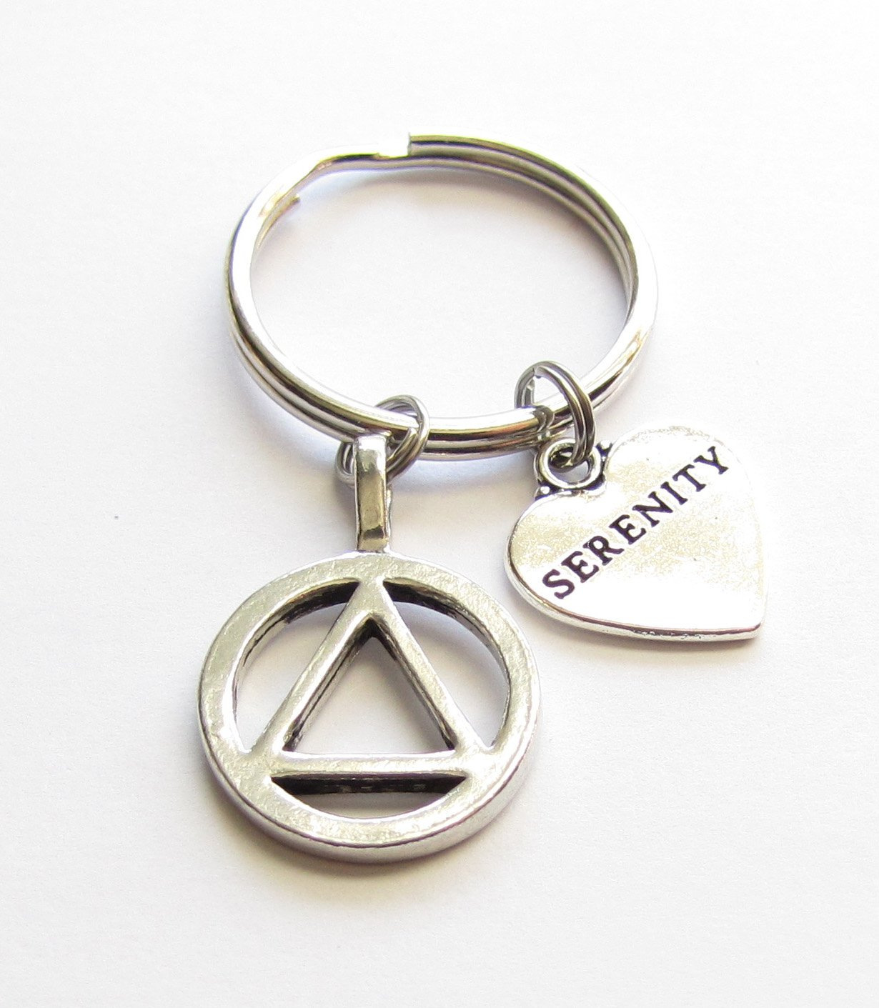 Alcoholics Anonymous AA Symbol Serenity Charm 12 Step Anniversary Recovery Gift by Heart Projects (Image #1)