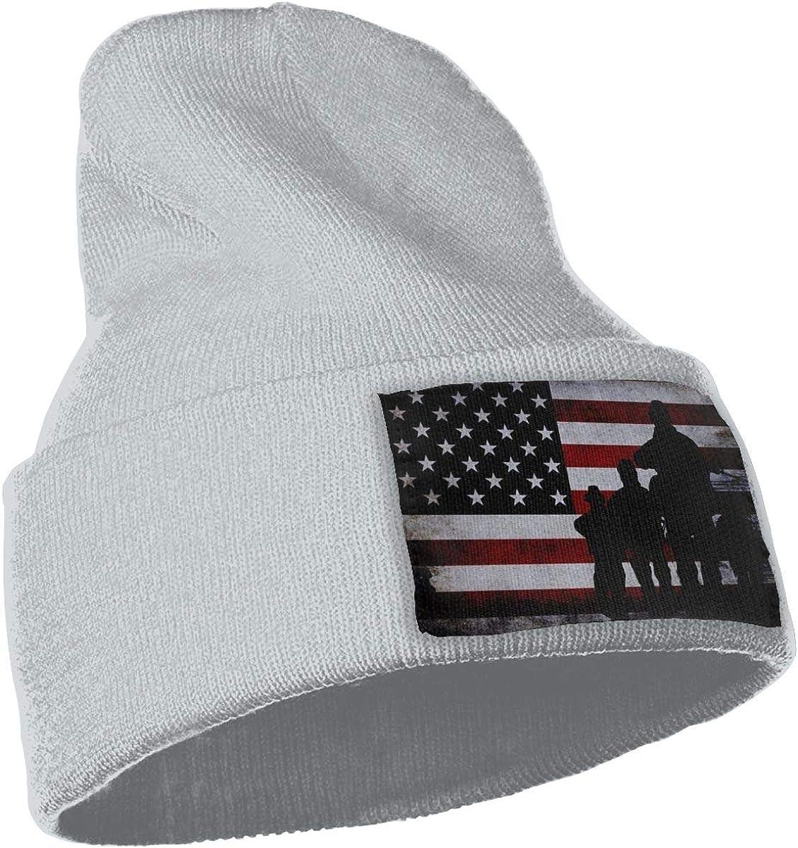 American Flag Veterans Day Army Ski Cap Men Women Knitting Hats Stretchy /& Soft Beanie