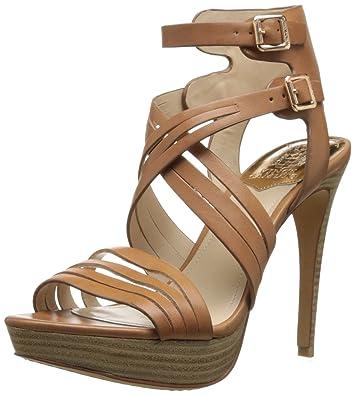 Vince Camuto Womens Jistil Dress Sandal Fudge Size 65