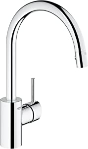 Grohe Concetto High Arc Kitchen Faucet-Starlight Chrome