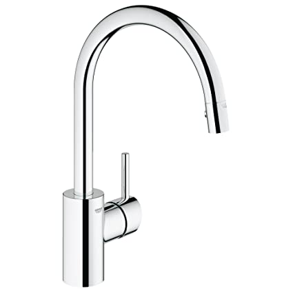 Concetto Single Handle Pull Down High Arc Kitchen Faucet