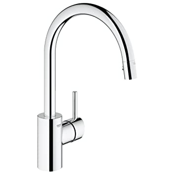 Concetto Single Handle Pull Down High Arc Kitchen Faucet Ceiling