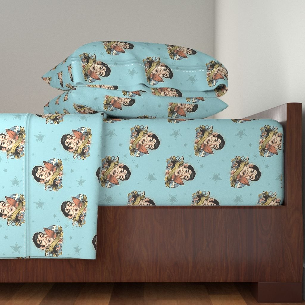 Roostery Tattoo 4pc Sheet Set Vaya Con Dios Point Break by Saraholledesign Queen Sheet Set made with