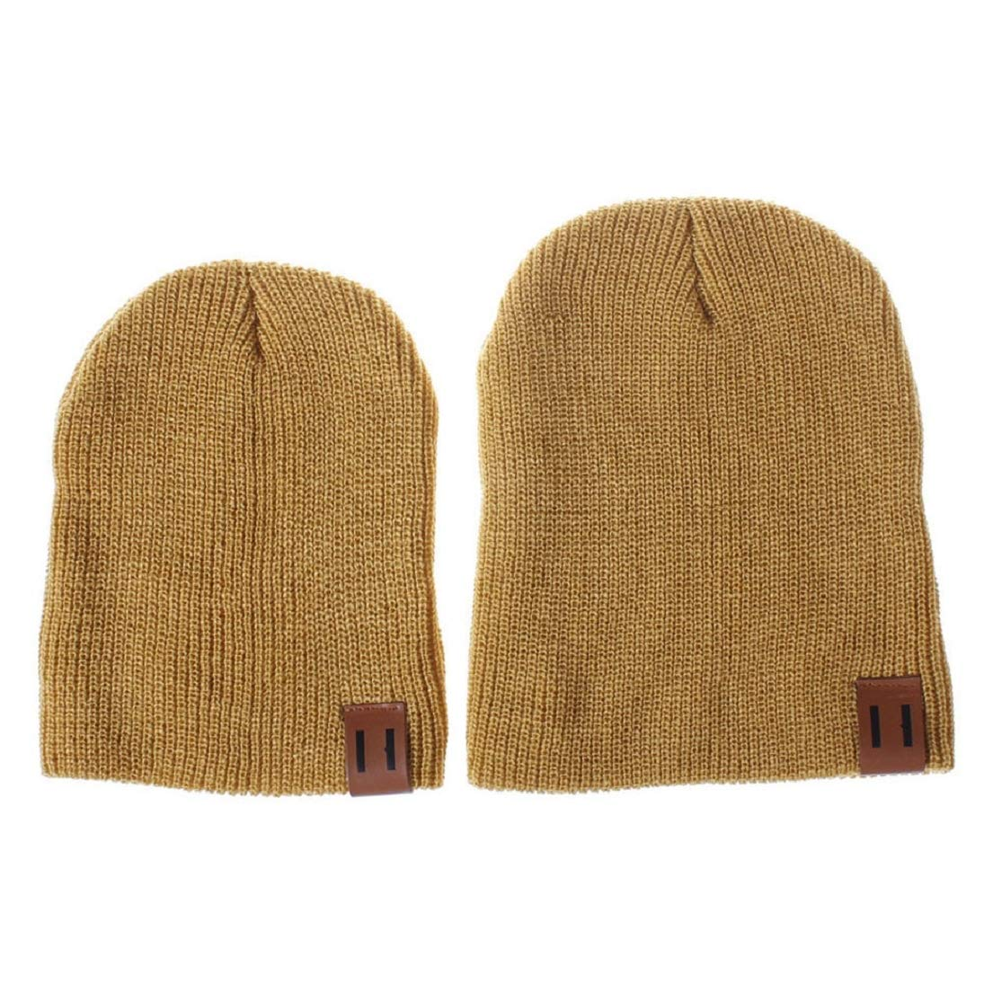 ff17c515e3d Amazon.com  2PCS Mom and Baby Hat Autumn Winter Crochet Knit Winter Warm Hat  Beanie Cap (Pink)  Beauty