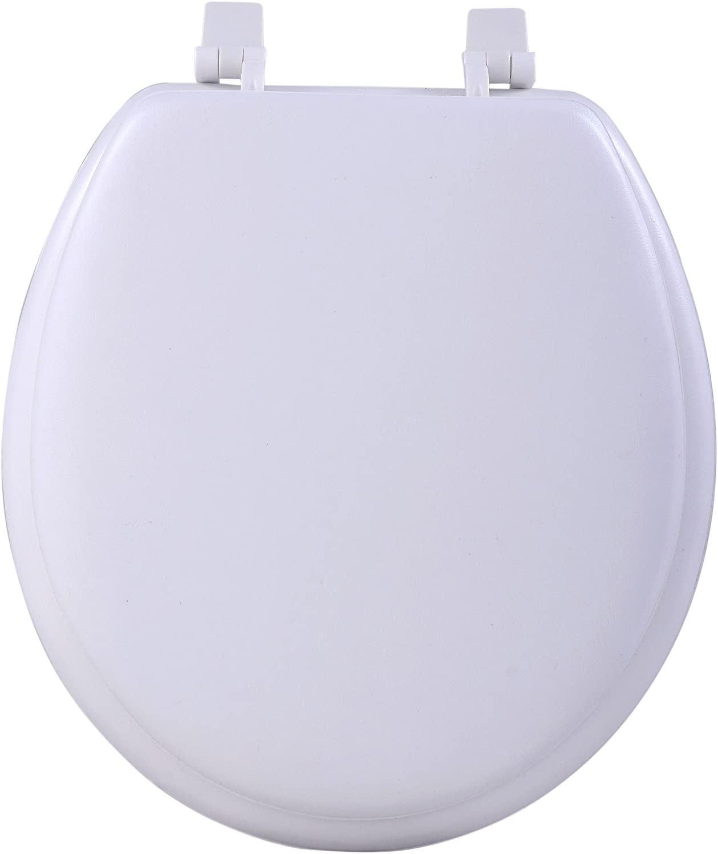 Achim Home Furnishings White TOVYSTWH04 17-Inch Fantasia Standard Toilet Seat, Soft