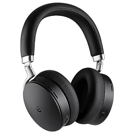 Auriculares Bluetooth Con Cancelación Activa De Ruido, Auriculares Inalámbricos, Auriculares Bluetooth EUASOO Plegables Sobre