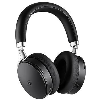 Auriculares Bluetooth Con Cancelación Activa De Ruido, Auriculares Inalámbricos, Auriculares Bluetooth EUASOO Plegables Sobre Las Orejas Con Cancelación ...