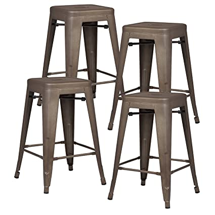 Poly And Bark Trattoria 24u0026quot; Counter Height Stool In Bronze ...