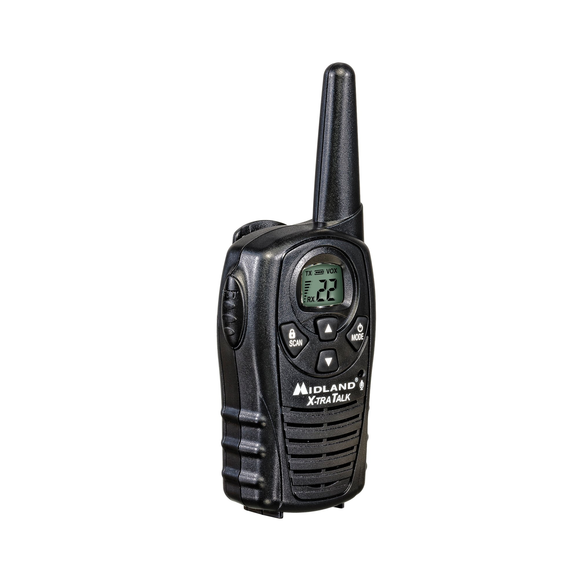 Midland - LXT118, FRS Walkie Talkies with Channel Scan - Up to 18 Mile Range Two Way Radio, Hands-Free VOX, Water Resistant (Pair Pack) (Black) by Midland (Image #6)