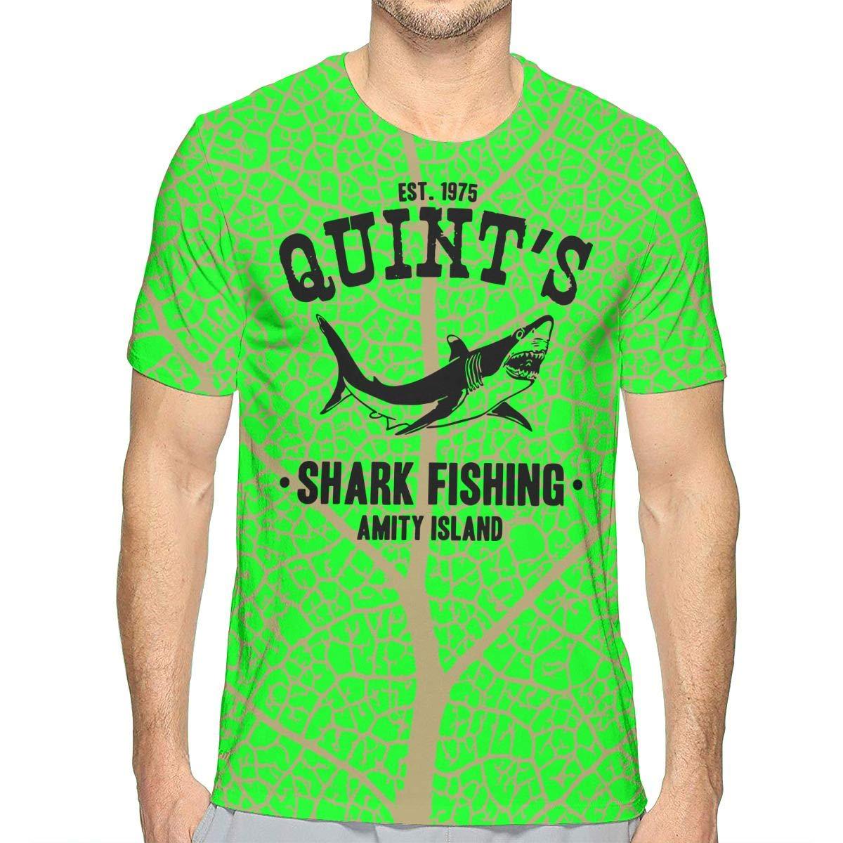 Quints Shark Fishing Mens Style Short Sleeve Tshirts