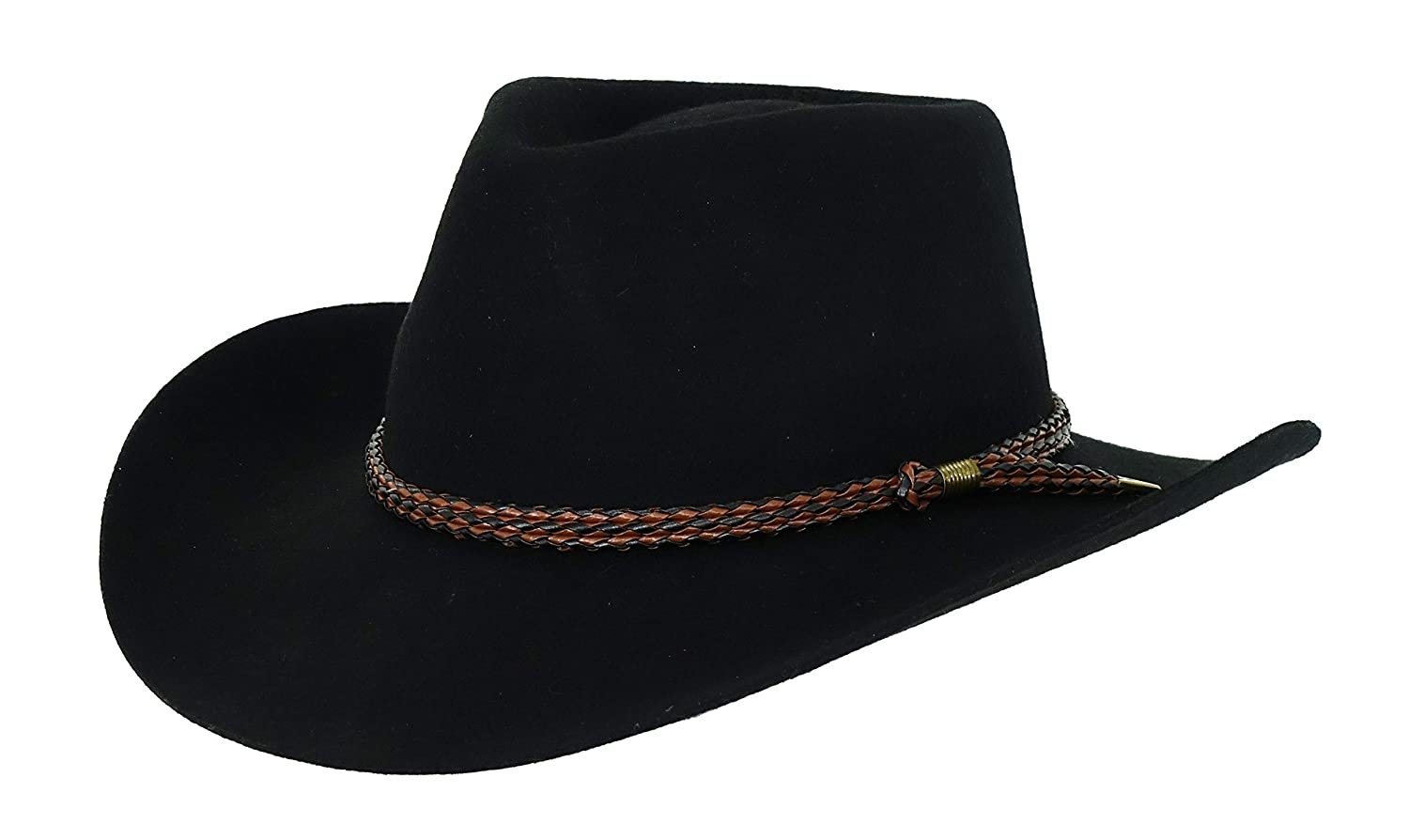 Outback Trading Hat Mens Forbes Wool Water-Repellent M Black 1153