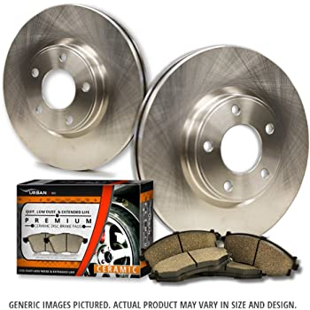 30%OFF Detroit Axle - Rear DISC Brake Rotor Set & Brake Pads w/Clips