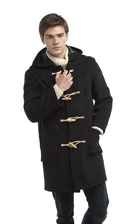 Mens Long Duffle Coat Wooden Toggle Charcoal: Amazon.ca: Sports ...