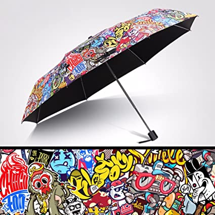 CNBBGJ Vinilo PARAGUAS paraguas plegable paraguas creativo ...
