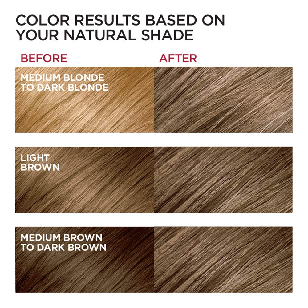 L Oreal Paris Excellence Creme Permanent Hair Color 6 Light Brown 100 Gray Coverage Hair Dye Pack Of 1