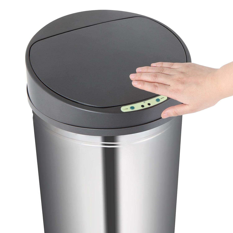 Jago - Cubo de basura automático con sensor de movimiento 62 L: Amazon.es: Hogar