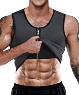 06a3875cf7 NonEcho Men Sauna Sweat Vest Weight Loss Waist Trainer Vest Neoprene Tank Top  Shapewear Slimming Shirt