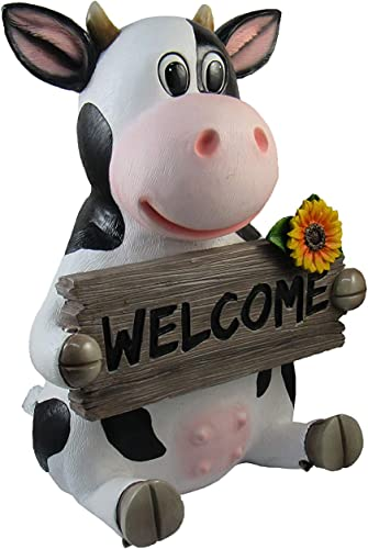 "DWK ""Funny Farm"" Outdoor Cow Welcome Sign"