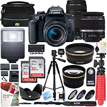 Amazon.com: Canon EOS Rebel T7i Cámara DSLR con EF-S 0.709 ...