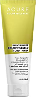 product image for ACURE Ionic Blonde Color Wellness Purple Conditioner | 100% Vegan | Performance Driven Hair Care | Purple Carrot & Sunflower Seed Extract - For Blonde, Platinum, Ombre Color Treated Hair | 8 Fl Oz