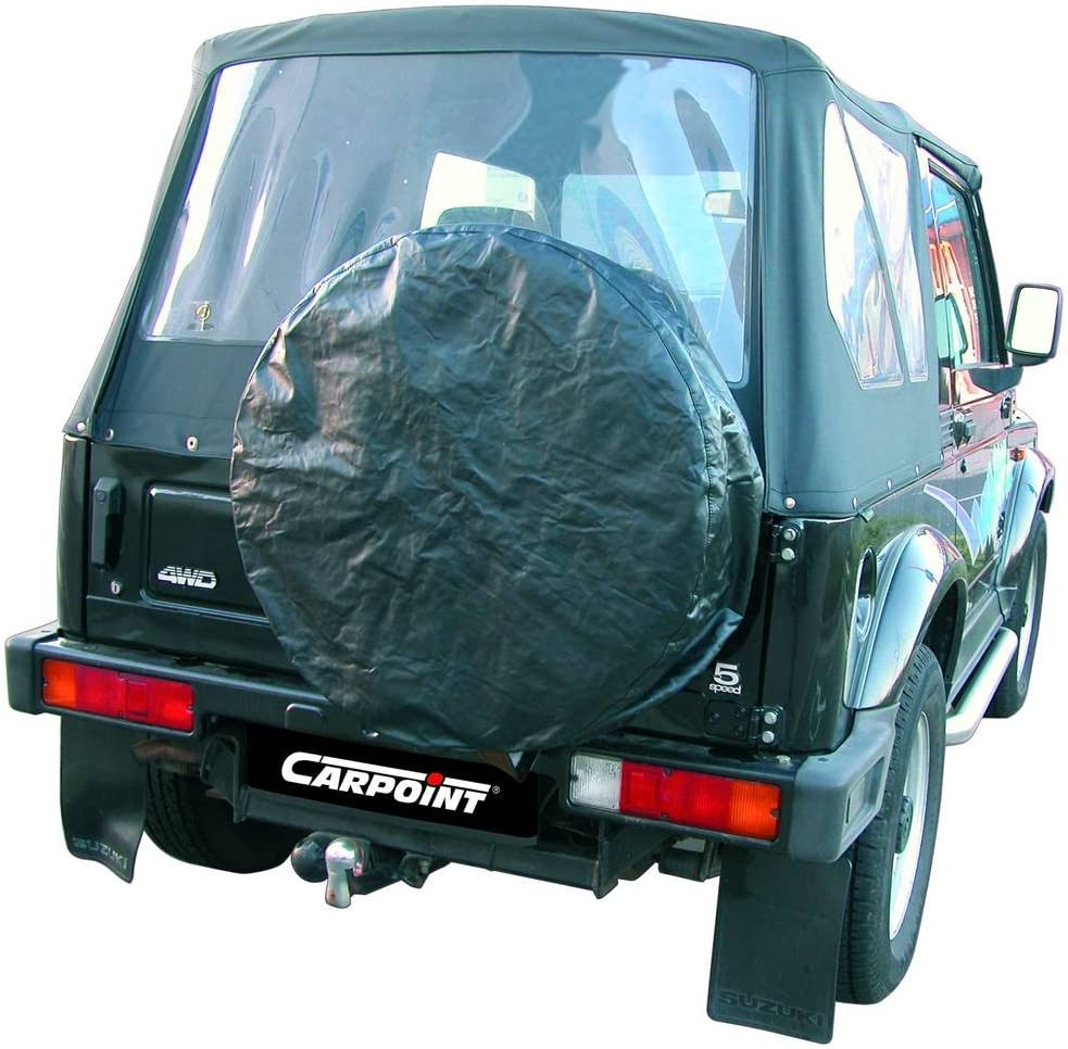 Carpoint Universal spare wheel cover suitable for 15//16 wheels Black
