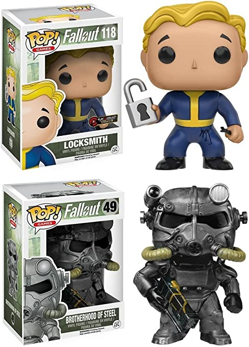 Funko POP! Fallout: Locksmith + Brotherhood Of Steel - Video Game Vinyl Figure Set NEW: Amazon.es: Juguetes y juegos