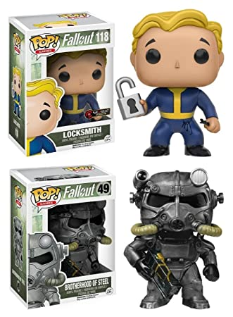 Funko POP! Fallout: Locksmith + Brotherhood Of Steel - Video Game ...