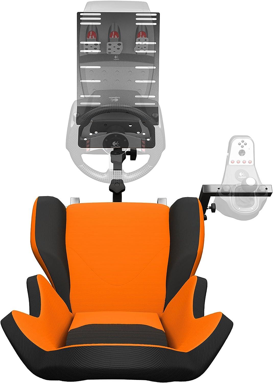 e8b2d3f3d82 Amazon.com: Openwheeler GEN2 Racing Wheel Stand Cockpit Orange on Black   Fits  All Logitech G29   G920   All Thrustmaster   All Fanatec Wheels    Compatible ...