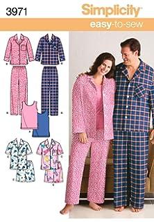 f27cc729cb Simplicity Sewing Pattern 4048 BB Misses Sleepwear  Amazon.co.uk ...