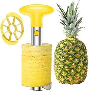 SameTech Easy Kitchen Tool Stainless Steel Fruit Pineapple Peeler Corer Slicer Cutter