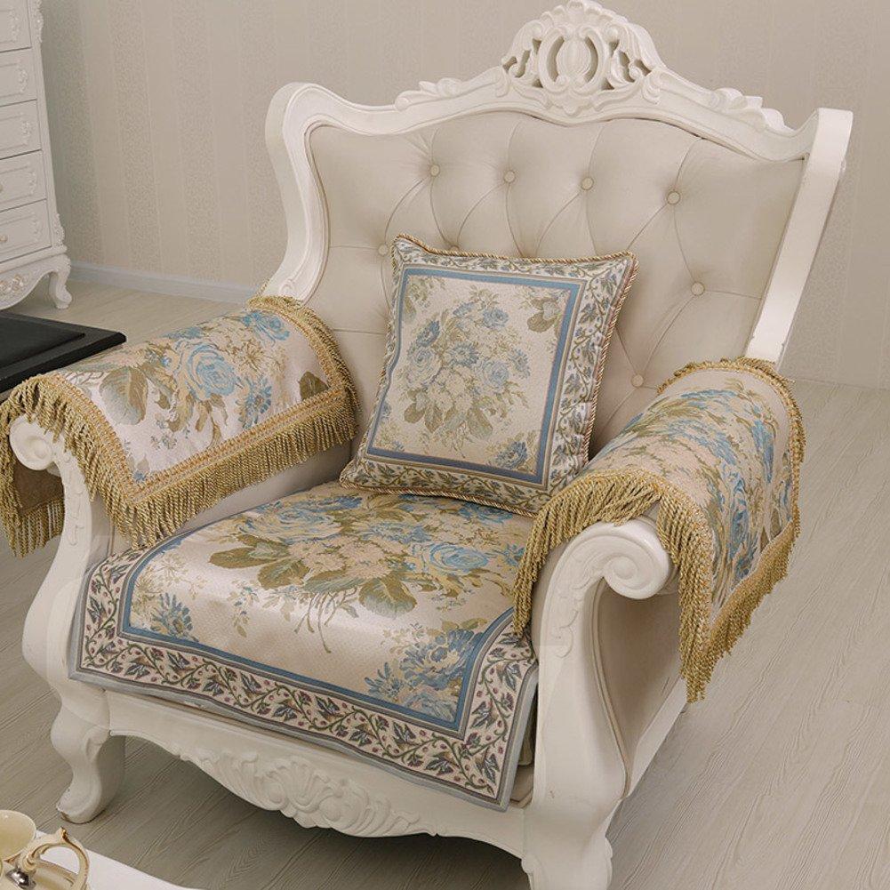 DHWJ Four sofa cushions European-style fabric cushion Anti-sliding-A 70x210cm(28x83inch)
