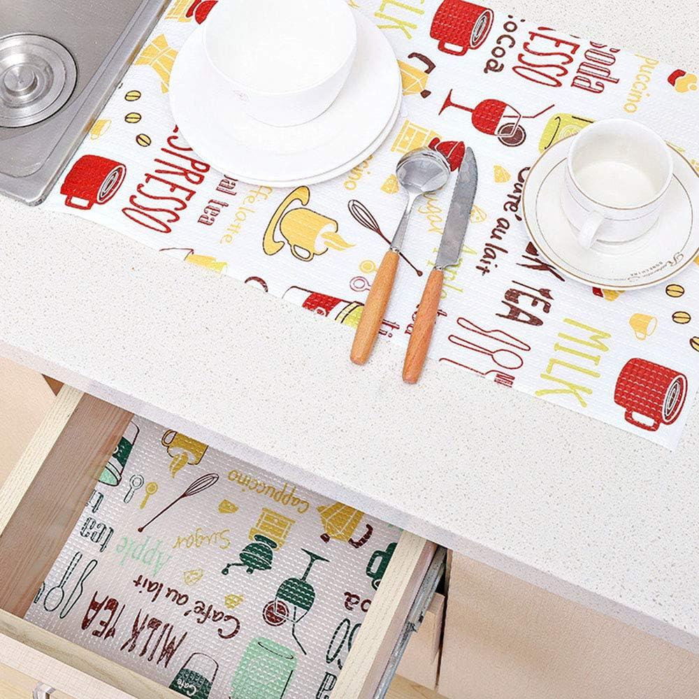 30x300cm Schubladenmatte Schrankpapier K/üche Gwolf Schubladeneinlage Schubladenmatte Wasserdicht Antirutsch Hitzebest/ändig Tischset Kann geschnitten Werden Schrankpapier Nicht klebend