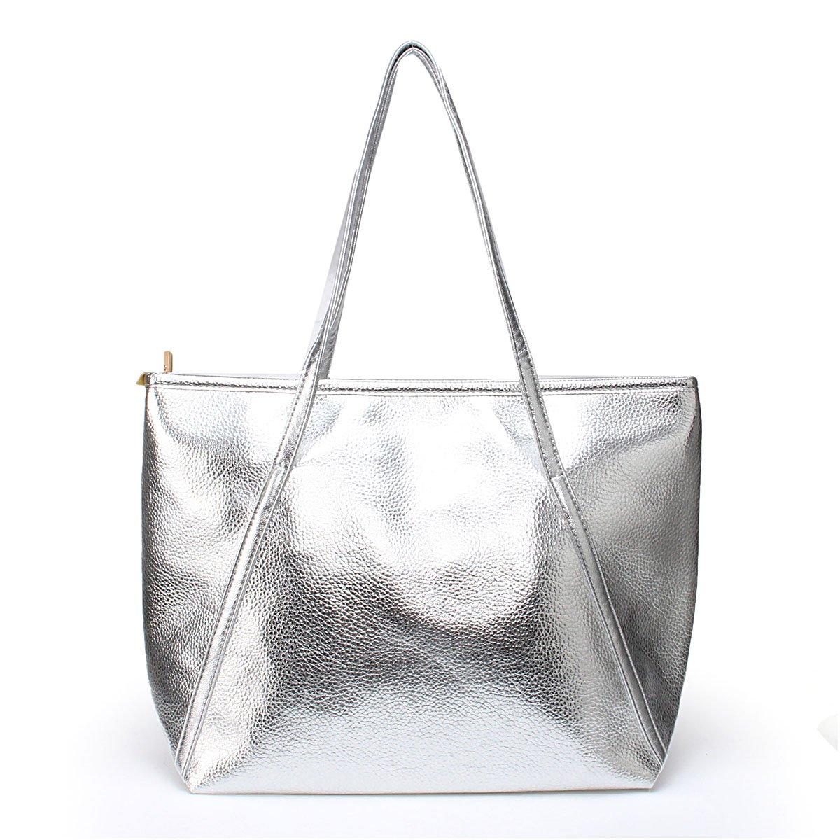Women's Tote Handbags - OURBAG Large Fashion Designer Elegant Shoulder Bag Purses for Ladies Silver