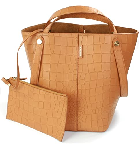 Mulberry Kite Leather Croc Embossed Shoulder Handbag (Tan) Camel ... 373ba073cf