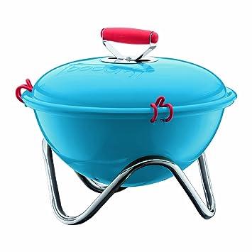 Bodum 10630-652 Fyrkat - Barbacoa portátil, color azul