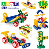 MagicJourney GYRO-RIFFIC MEGA STEM Toys Construction Set Most Popular Engineering Building Set - Classroom Quality Educational Girls & Boys Kids Toys Age 4 to 10-116 Pieces