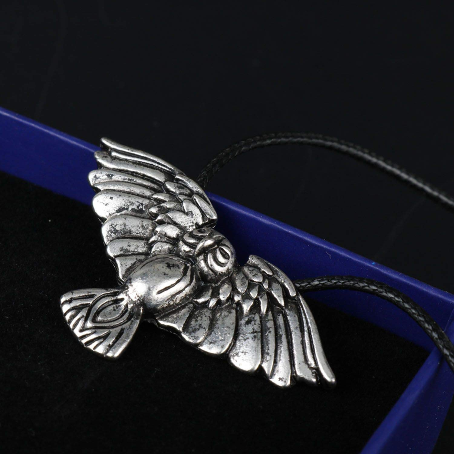 Handmade Norse Pendant Antique Silver Color Bird Animal Necklace Charm Amulet Necklace Jewelry