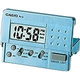Reloj Despertador CASIO PQ-10D-2R - Despertador Digital de viaje con luz y repetición. Color azul