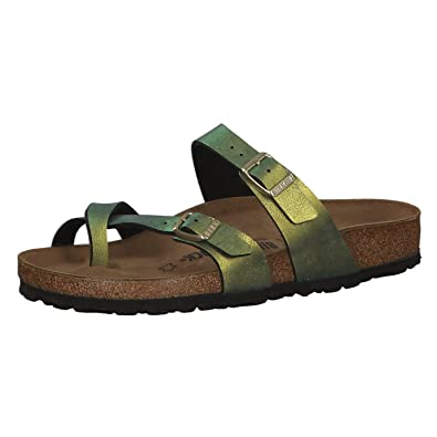 7e29842e6 Amazon.com | Birkenstock Mayari Womens Slides Green EU 41 - US L10 ...