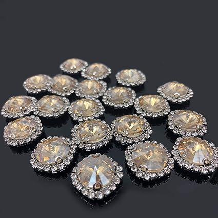 Large Rhinestone Water Resin Rhinestone Wedding Button  Resin Button  Flat Bottom Resin  Applique Dress  Sewing Button