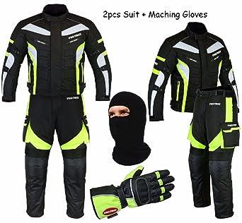 Mr.Pro Impermeable Moto Motocicleta 2 Piece Guantes de Traje ...