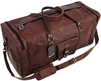 ee4a9146f77e Znt Bags Vintage Leather Brown Duffle Travel Bag Overnight Bag Weekend Bag  Leather Gym Sports