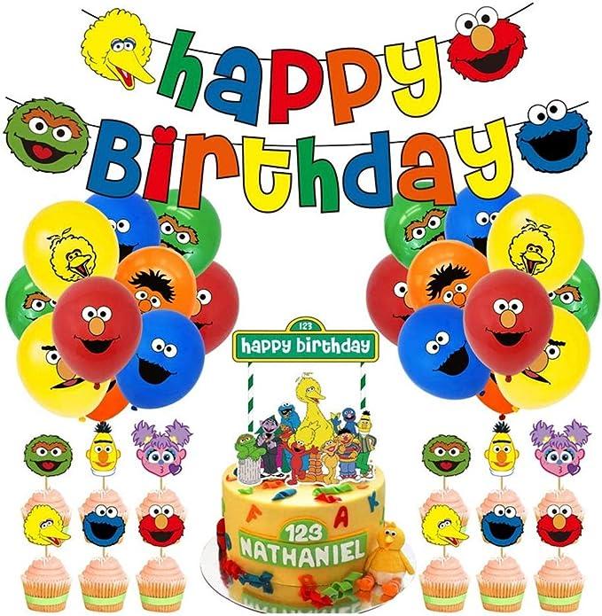 Sesame Street Party Decor Elmo party cupcake toppers Sesame street centerpieces 12 Mini Pinwheels Sesame Street SALE custom orders welcome