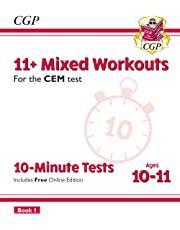 New 11+ CEM 10-Minute Tests: Mixed Workouts - Ages 10-11 Book 1 (with Online Edition) (CGP 11+ CEM)