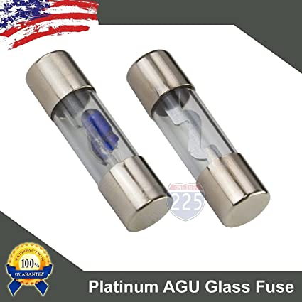 71JxiHkqXRL._SX425_ amazon com 5 pack 40 amp platinum agu glass fuse 40a car truck boat