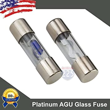 71JxiHkqXRL._SY355_ amazon com 5 pack 40 amp platinum agu glass fuse 40a car truck boat