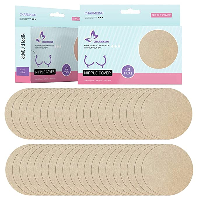 463f233e204 20 Pairs Pasties Womens Adhesive Nipple Covers Invisible Round Silicone  Cover Concealers Breast Pads Gel Petals